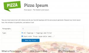 PizzaIpsum Screenshot